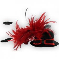 Šeširić sa crvenim perjem