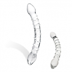 Glas – Double Trouble - dvostrani stakleni dildo