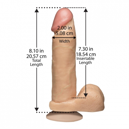 Doc Johnson – Realistični dildo, 20 cm