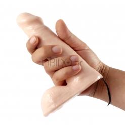 Basix Rubber Works – Vibrirajući dildo 15 cm, flesh