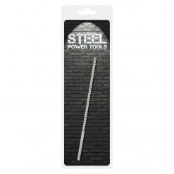 Steel Power Tools - Dip Stick Ribbed - penis plug, 6 mm