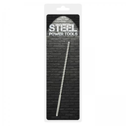 Steel Power Tools - Dip Stick Ribbed - penis plug, 6 mm