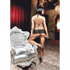 Baci – Čipkasti grudnjak i prozirna mini suknja sa zlatnim ornamentima