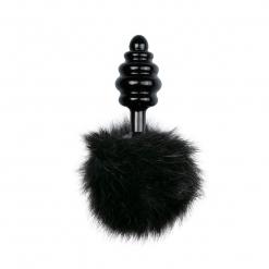 Fetish Collection – Bunny Tail Plug No. 2, črni