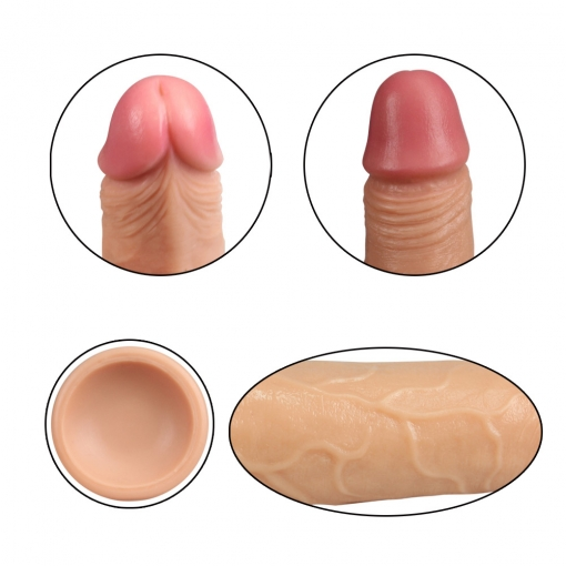 Lovetoy - Dual Layered Silicone Dong, 18 cm
