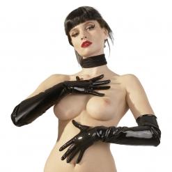 Late X - Latex rokavice nad komolci