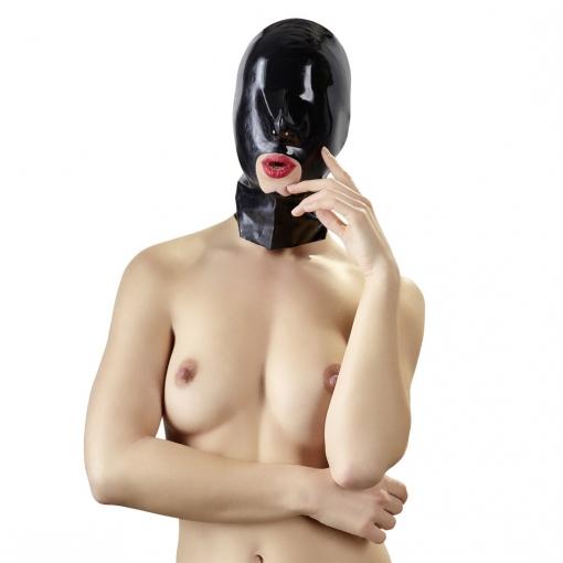 Late X - Latex maska z odprtino za usta