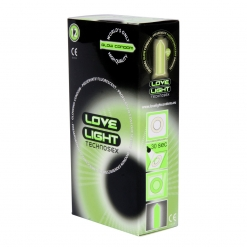Love Light - Glow in the Dark kondomi, 12 kos