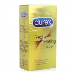 Durex - Real Feeling kondomi brez lateksa, 10 kos