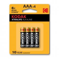 Baterija Kodak Xtralife alkalna AAA, 4 kos