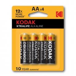 Baterija Kodak Xtralife alkalna AA, 4 kos