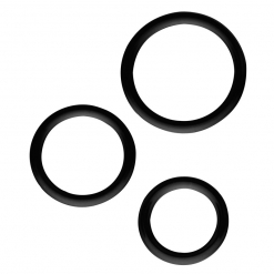 All Time Favorites - Silicone Cock Rings Set, 3 kos